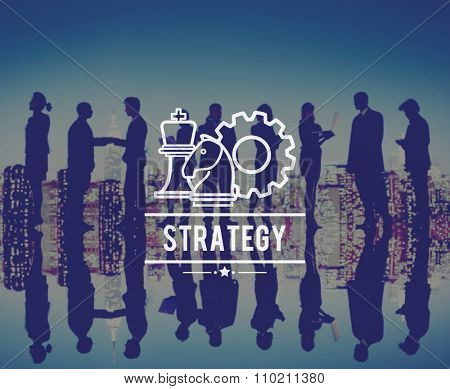 Strategy Tactics Planning Direction Goal Target Chess Concept poster