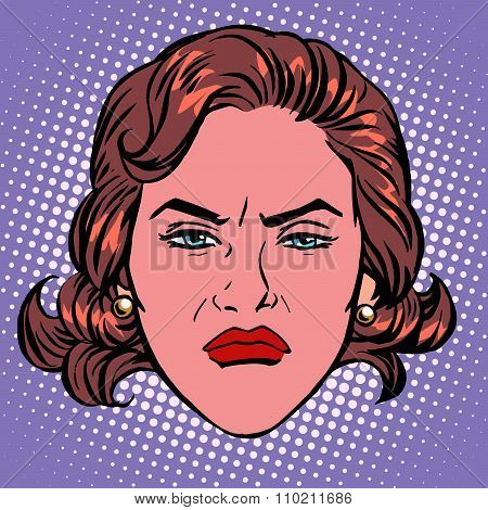 Retro Emoji wicked contempt woman face