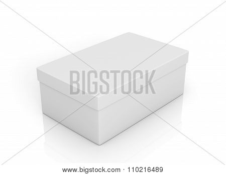 White Rectangular Box On A White Background