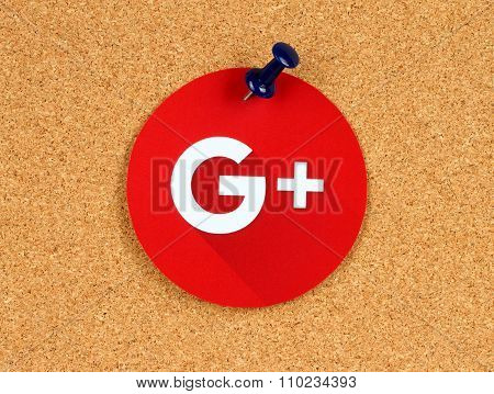 New Google Plus logo sign