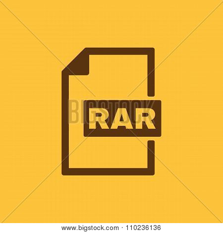 The RAR file icon. Archive, compressed symbol. Flat Vector illustration poster