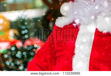 Santa costume Christmas background