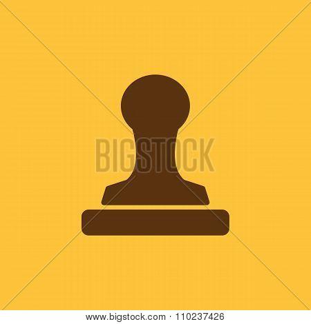 The stamp icon. Cliche symbol. Flat