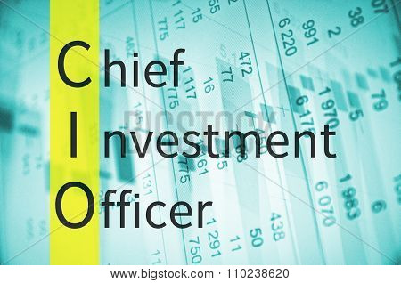 Business acronym term CIO - Chief investment officer poster