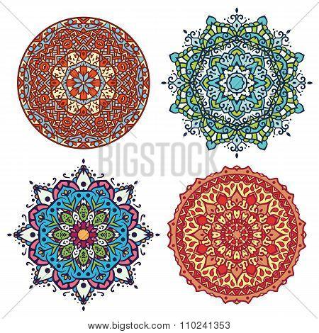Abstract Flower And Mandala Set