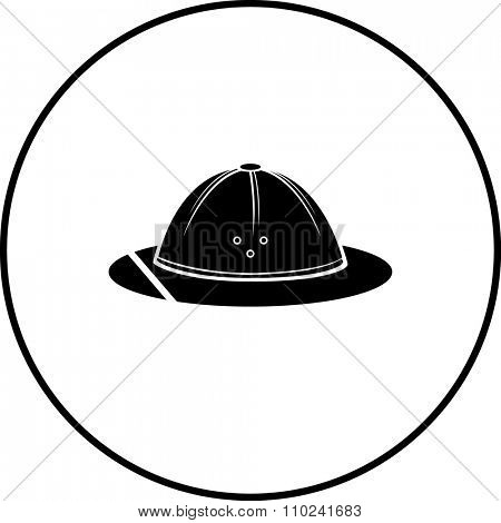 safari hat or pith helmet symbol