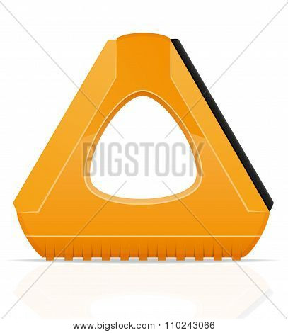 Scraper For Cleaning Car From Snow And Ice Vector Illustration