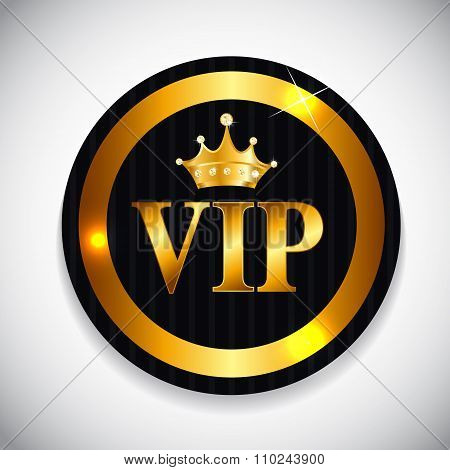 VIP Members Card Vector Illustration