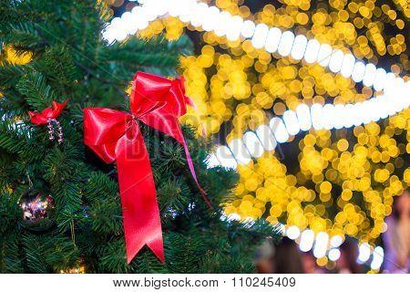 Closeup Of Christmas Tree