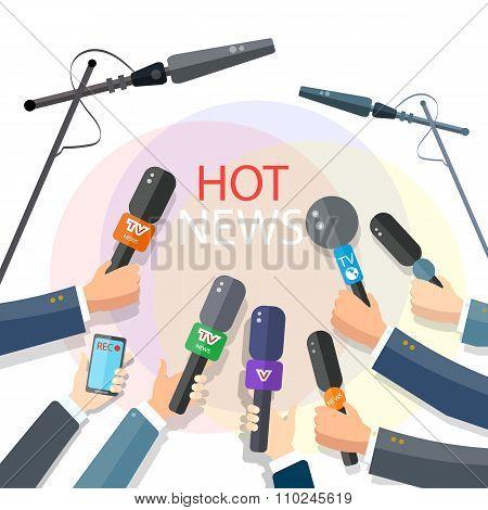 Hot News Concept
