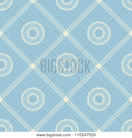 Vector seamless pattern with lace ribbon