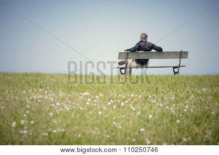 Man sitting on a bench-4