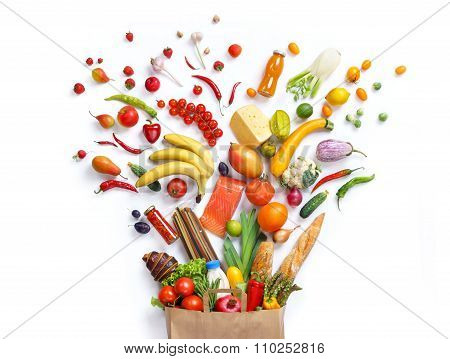 Healthy food background, top view. High resolution product.
