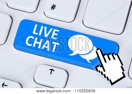 Live Chat Contact Communication Customer Service Message