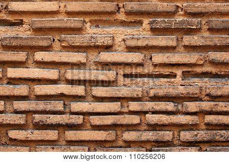 Old Soiled Brick Wall
