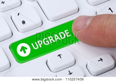 Upgrade Upgrading Software Program Symbol On Computer Keyboard