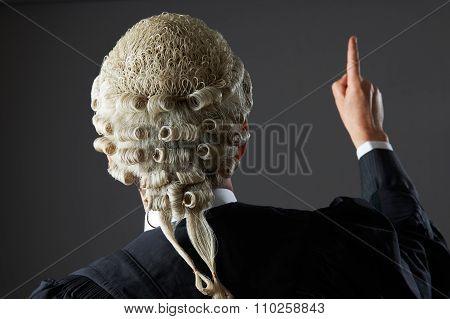 Barrister Making Speech In Court