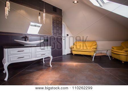 Stylish Bathroom Lounge