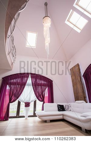Fancy Lounge With Big Windows