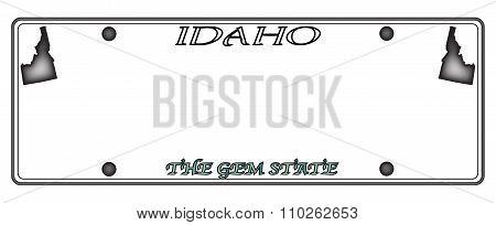 Idaho License Plate