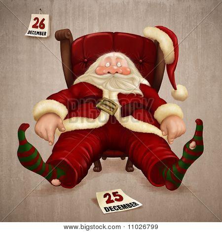 Müde Santa Claus