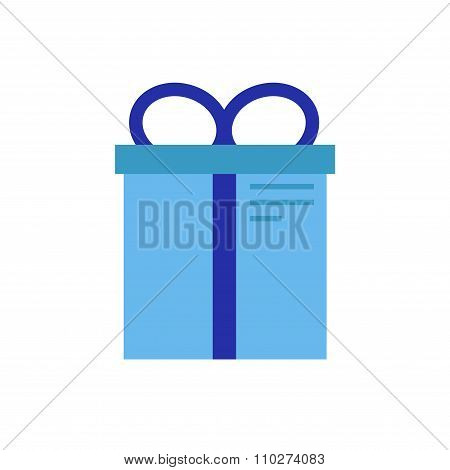 Present isolated icon on white background.