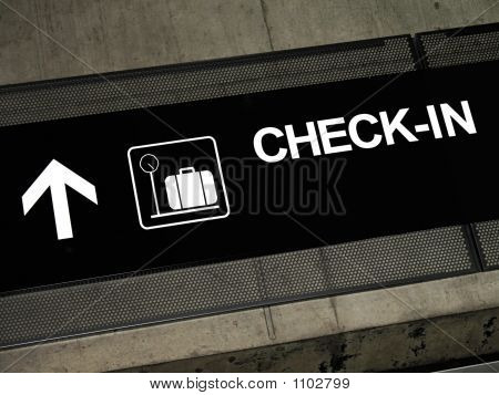 Airport Signs - Check-In