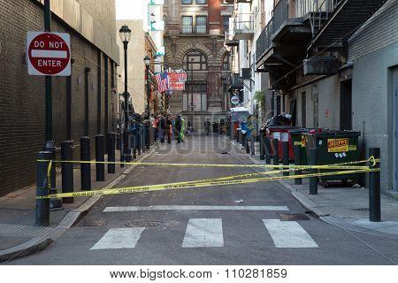 Closed Philadelphia Side Street
