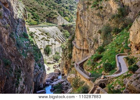 Caminito Del Rey Canyon And Trail