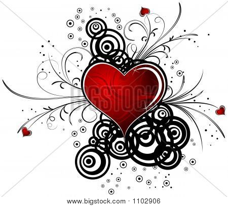 Abstract Valentine'S Background With Hearts, Vector