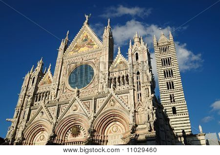 The Facade Of The Cathefral Of Siena