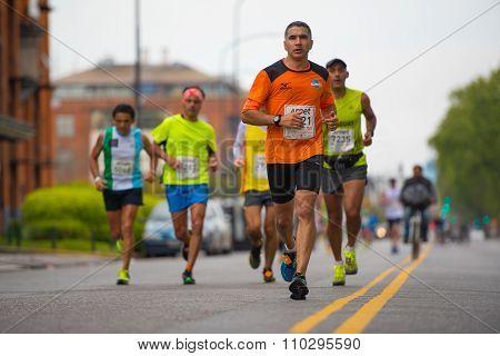 Runners during the Marathon