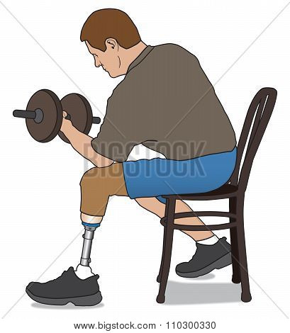 Amputee Lifting Weight