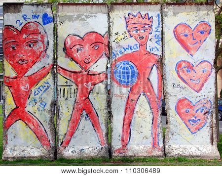Old part of the Berlin Wall