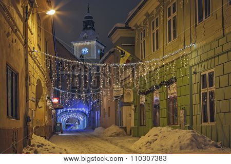 Christmas Decorated City