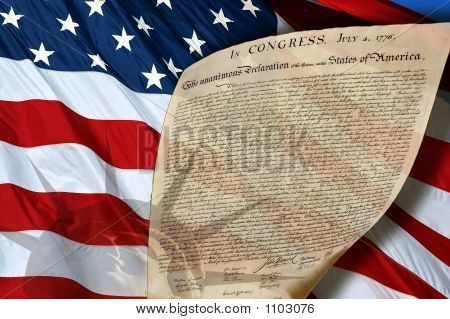 Liberty Flag And Declaration