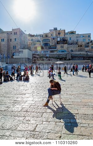 Writing a wish - Western Wall in Jerusalem