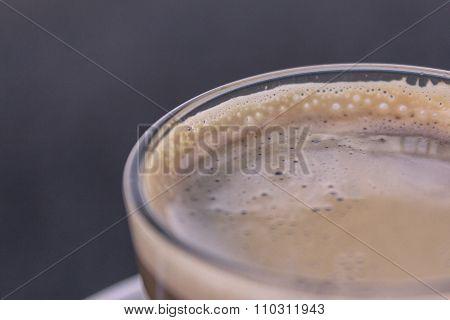 coffee milk macro - coffee cream closeup