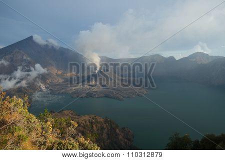 The Eruption on Mount Anak Jari on Mount Rinjani - November 2015