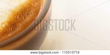 coffee with milk close up