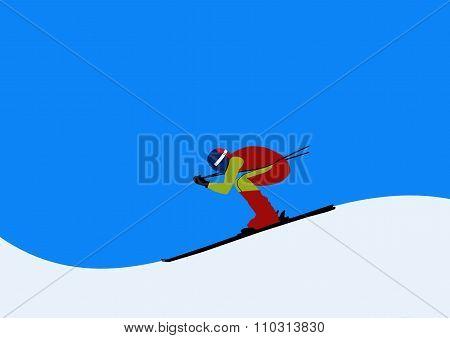 Skier On The Slopes