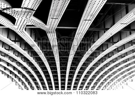 Carcass Of The Bridge. Technogenic Abstract Background