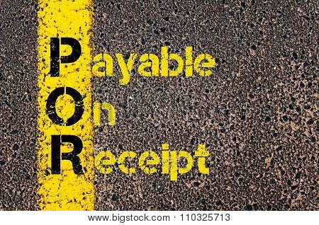 Accounting Business Acronym Por Payable On Receipt