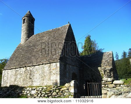 St. Kevin's Church Or Kitchen In Glendalough