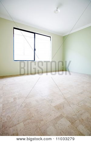 Verticle Composition, Green Empty Room