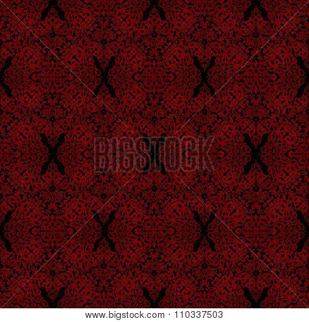 Vintage Seamless Pattern With Lacy Ornament.