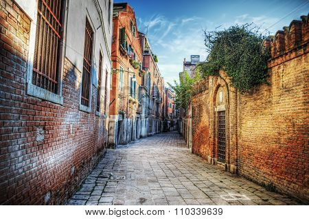 Picturesque Backstreet In Venice
