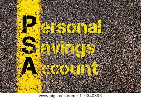 Accounting Business Acronym Psa Personal Savings Account