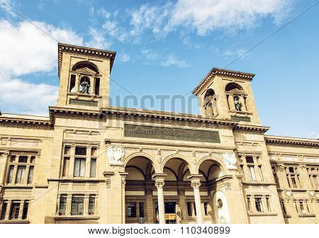 Building Of National Central Library (biblioteca Nazionale Centrale Di Firenze) In Florence, Italy