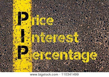 Accounting Business Acronym Pip Price Interest Percentage
